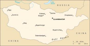 Mapa de Mongolia