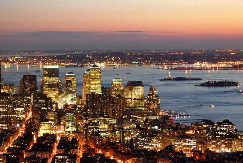 Populares Guia de albergues y hostales de Nueva York en Estados Unidos, mapa  YU96